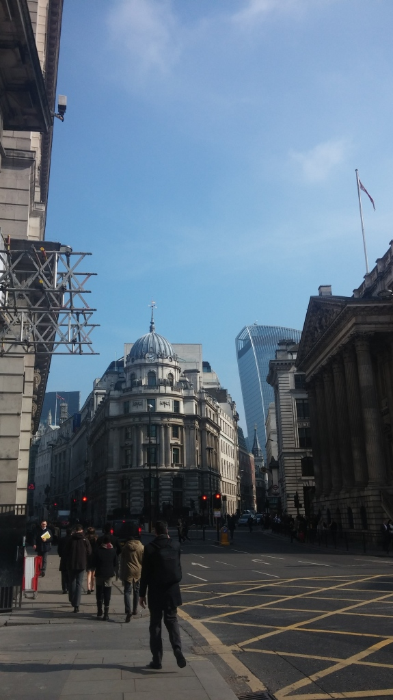 Image of old and new buildings in central London