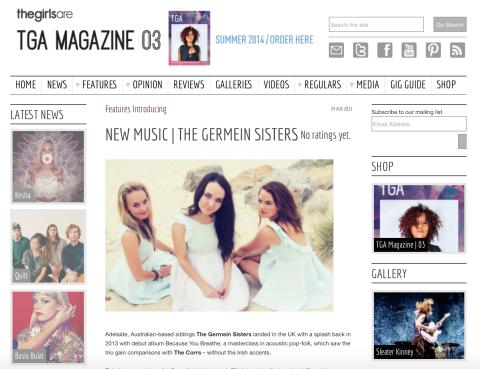 Screen grab of article
