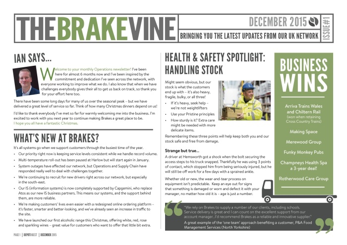 The BrakeVine (December 2015)
